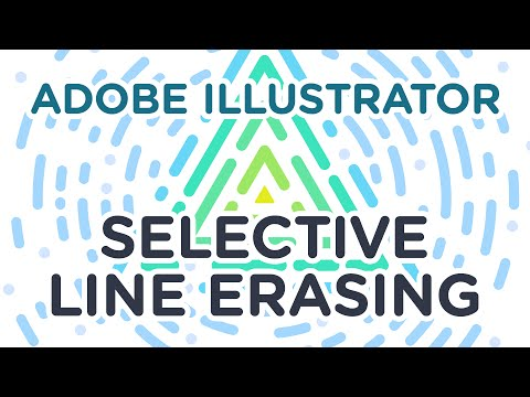 Adobe Illustrator – Selective Stroke/Line Erasing – Process Video