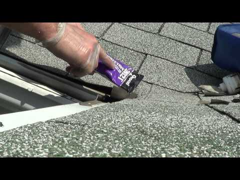 How to Access Gutter Toppers Repair  / Seam seal MITER corner leaking gutter