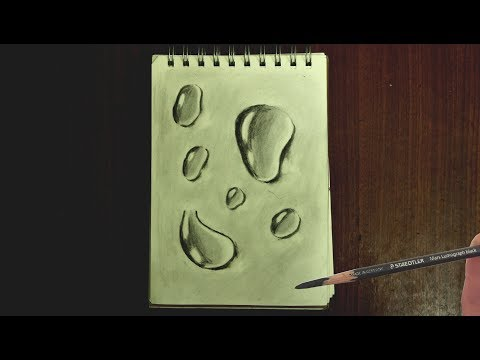 How to Draw 3D Water Drops that Look So Real