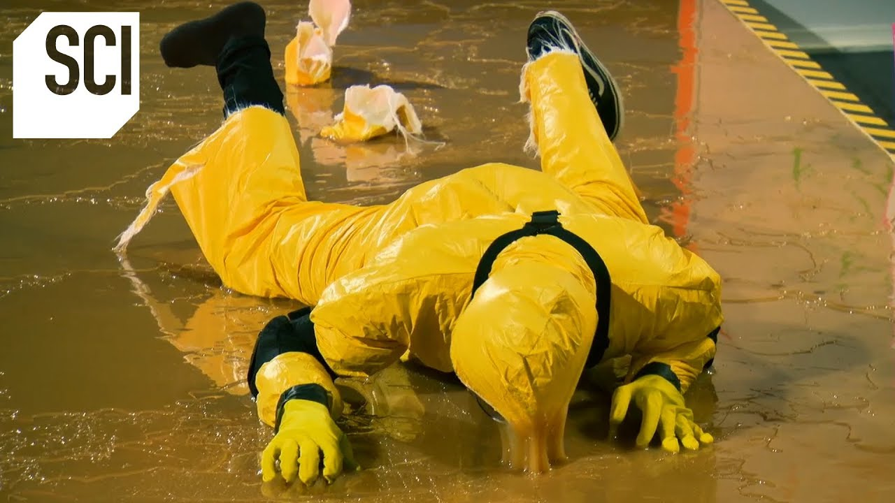 Catching a Human With a Giant Glue Trap!   MythBusters Jr.