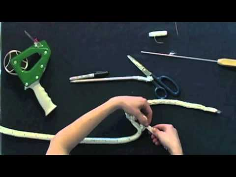 How to Finish your Horse Lead Rope (Popper end) or Dock Line - Class 1 Double Braid End Splice