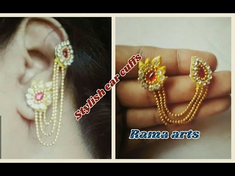 Stylish ear cuffs - How to make ear cuffs | jewellery tutorials
