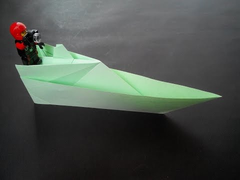 How to make: paper boat. Бумажный катер. Papierboot