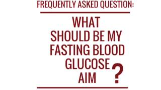 http://www.chiseltraining.com/diabeticnewbie  This video explains what range you should aim for when testing your fasting blood glucose levels.
