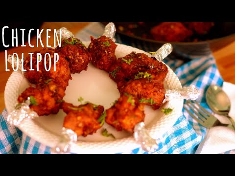 How to cook chicken lollipop at home with sauce