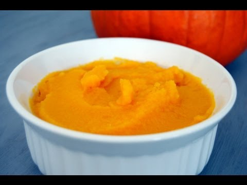 Pumpkin Puree Recipe - How To Make Pumpkin Puree - Sweetysalado.com