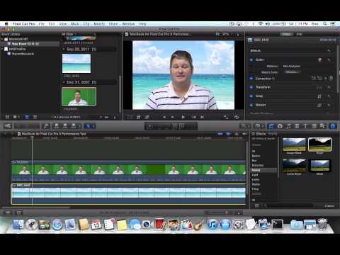 MacBook Air Final Cut Pro X Performance Test