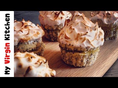 Lemon & Poppyseed Meringue Muffins - MYVIRGINKITCHEN