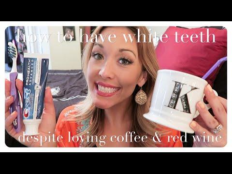 how to get really white teeth for cheap [despite loving coffee and red wine]