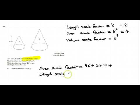 Length, Area and Volume scale factors