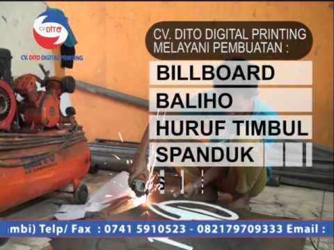 CV. DITO Jambi DIGITAL PRINTING - ADVERTISING - SABLON Hp. 082179709333