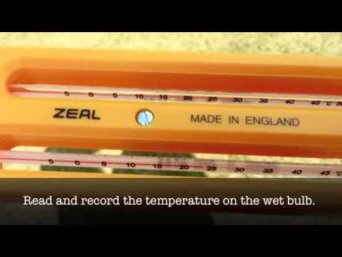 Finding Relative Humidity Using a Sling Psychrometer