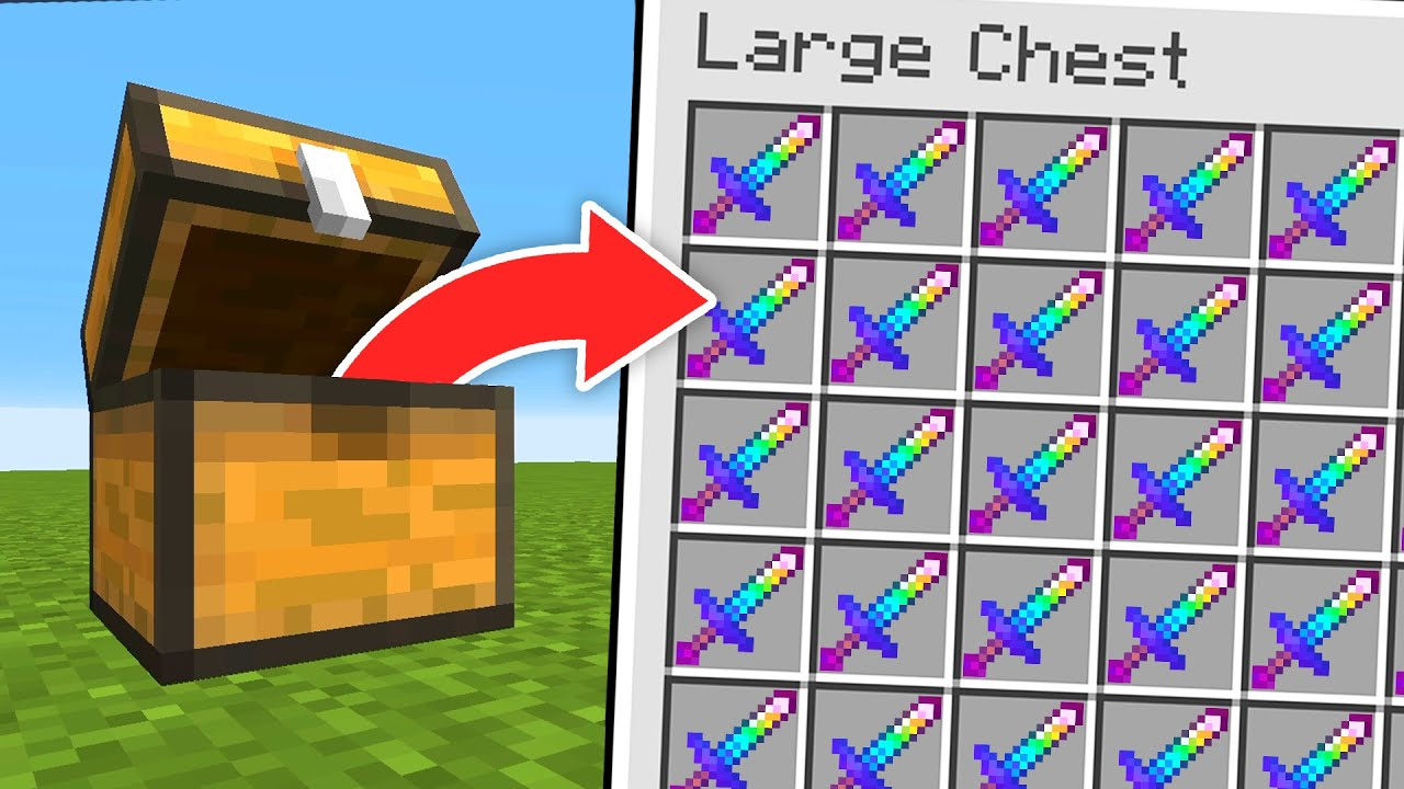 Minecraft, But Chests Give Super Items