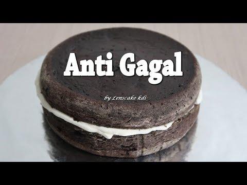 Resep Cara Membuat Kue Bolu Enak Anti Bantat |  Base Cake Kue Ulang Tahun Coklat Blackforest