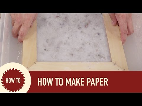 How to Make Paper (out of recycled paper)