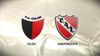 Colón vs. Independiente. Fecha 13. Torneo de Primera División 2016/2017. FPT