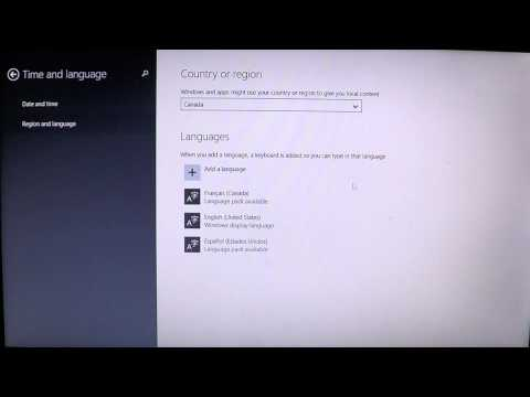 Windows 8.1 How to change country settings