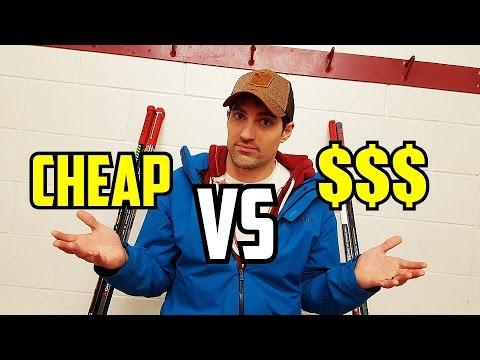Cheap hockey sticks VS Expensive sticks