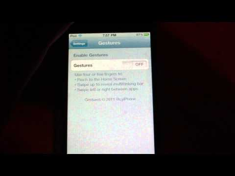 Enable Multitouch Gestures on iPod Touch 4, 4.3.1