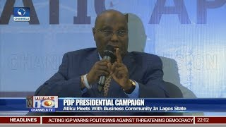 Download My Team Is Capable Of Tackling Corruption, Atiku Assures 16/01/19 Pt.1 |News@10| Video