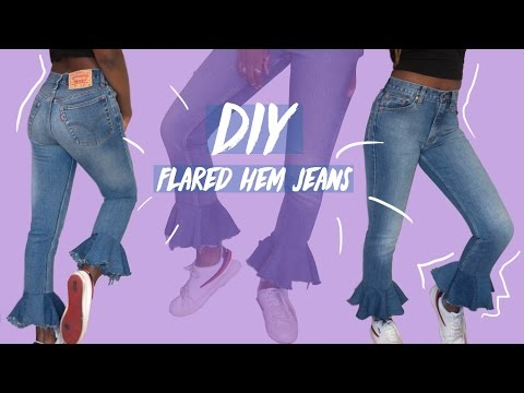DIY Distressed flared hem jeans | FASHION FIX EP 8 | Birabelle