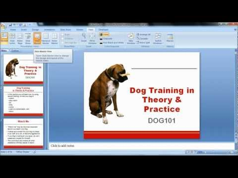 How to change formatting with Slide Masters (PowerPoint 2007)