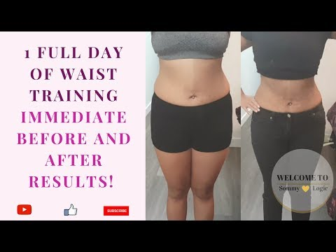 Full Day Of Waist Training  Luxx Health   IMMEDIATE Before & After Results