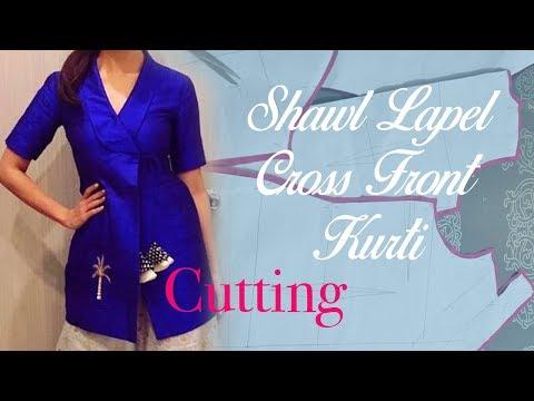 Tuxedo (Shawl) Lapel Kurti - Cutting