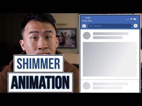 Swift Animations: Facebook Shimmer using Gradient Masks