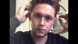 Niall Horan fixes his hairstyle compilation