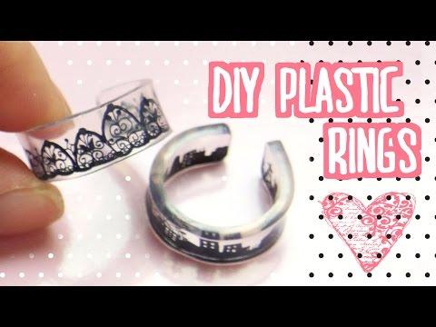 DIY plastic rings tutorial | shrink dinks | プラバンでアクセサリー作ってみた