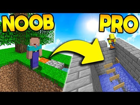 TEACHiNG SKYBLOCK NOOB HOW TO BE A PRO! ( Minecraft Skyblock Trolling )