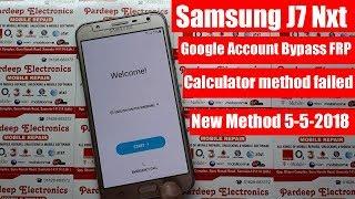 Samsung J7 Nxt (Sm-J701F/Ds) Bypass Google Account/Remove Frp Lock