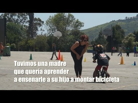 How to best teach how to ride a bike (with Spanish subtitles)