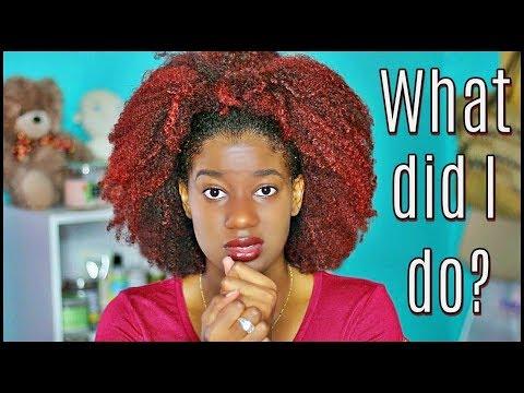 Going RED on Natural Hair | Damage Denial + New Regimen
