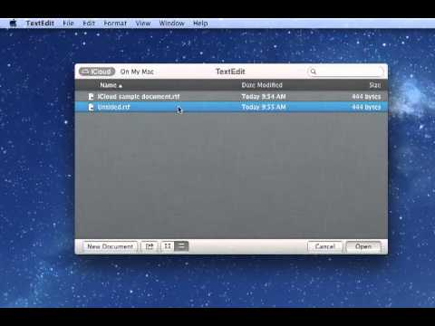 Move a File to iCloud Directly from Applications in Mac OS X