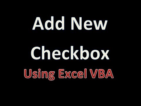 Dynamically Add New Checkbox and Rename the Caption - Excel VBA