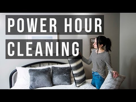 Speed Cleaning Power Hour - Stay At Home Mom Cleaning Routine ♡ NaturallyBrittany