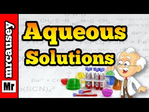 Aqueous Solutions, Acids, Bases and Salts