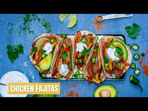 Easy Chicken Fajitas Recipe - How To Make Chicken Fajitas