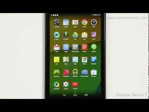 Google Nexus 7 - Screen Lock With Pin