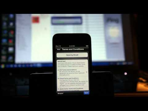 Unboxing demo on the installation of iOS 5.0 on my Apple iPod Touch 4g in HD