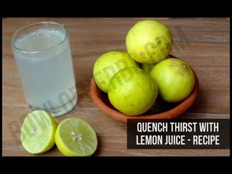 Lemon water to quench thirst - Natural remedy