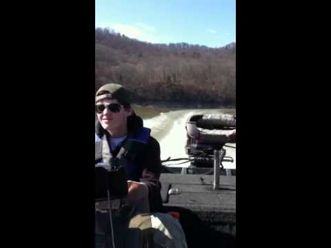 Big E driving 1992 Ranger Bass Boat Cherokee Lake Tn.