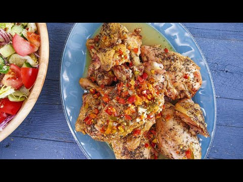 Rachael's Italian Roasted Chicken + Italian-American Salad