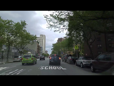 Driving from Harlem in Manhattan to Long Island City in Queens,New York
