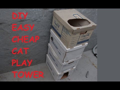 Make a Cat play tower -EASY & CHEAP!