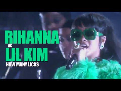 Rihanna as Lil' Kim - Bitch Better Have My Money / How Many Licks Mashup
