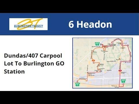 Burlington Transit 2015 NovaBus LFS #7017-15 On 6 Headon (Dundas/407 Carpool To Burlington GO)