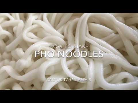 How to make fresh Pho Noodles with Chef Sam